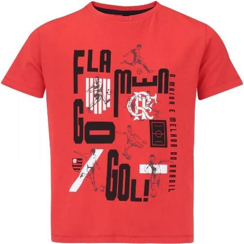 Camisa Braziline Flamengo Infantil T-Shirt Bigger - Vermelho