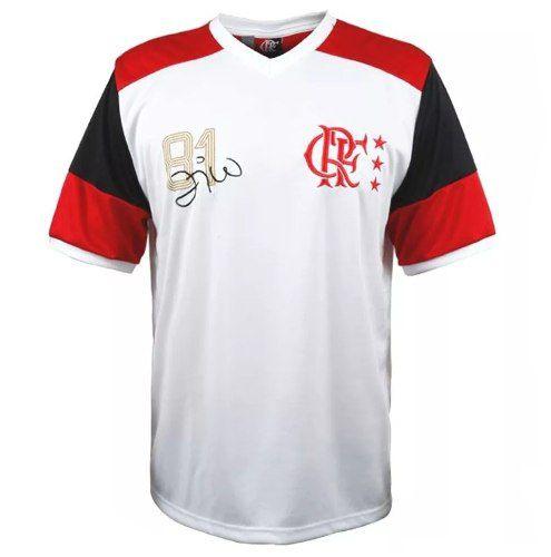Camisa Flamengo Masculina Zico Branca - Braziline