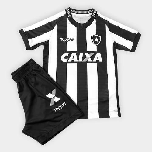 Conjunto Infantil do Botafogo Topper Jogo 1 - Listrada