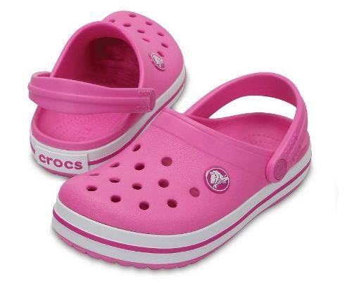 Sandália Crocs Crocband Infantil Party Pink Original + Nfe
