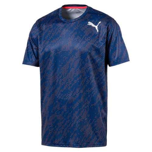 Camisa Puma Essential Tech Graphic Tee Blue - Original 2018