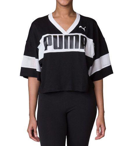 CroPPed Puma Urban Sports Tee Black Feminino - Original 2018