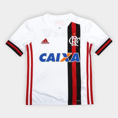 Camisa Flamengo Infantil Away 17 JR - Bco Verm 2017 - Titanes Esportes bfd547de3426a