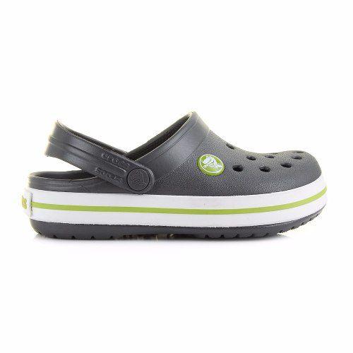 Sandália Crocs Crocband Infantil Graphite / Volt Green