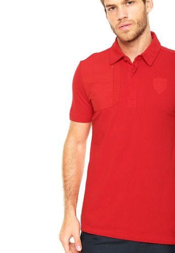 845fce197e Camisa Polo Puma Ferrari Styfr Rosso Corsa - Original - Titanes Esportes