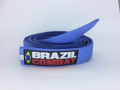 Faixa Especial Brazil combat Azul Sem Ponta - Adulto - A3