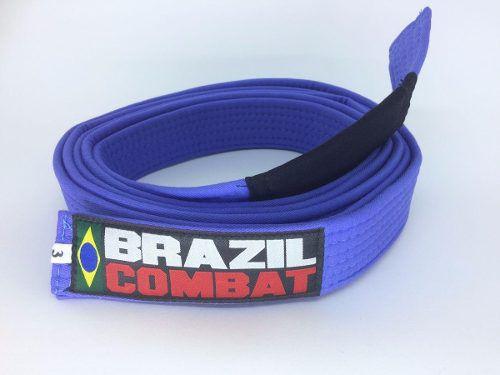 Faixa Especial Brazil combat Azul com Ponta - Adulto - A5