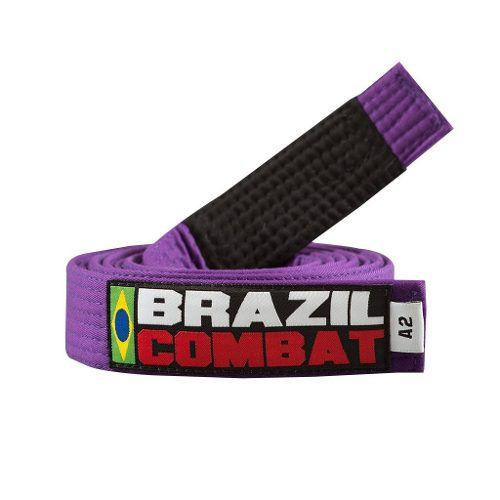 Faixa Especial Brazil combat Roxa com Ponta - Adulto - A5