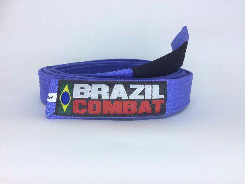 Faixa Especial Brazil combat Azul com Ponta - Adulto - A4