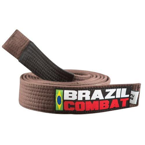 Faixa Especial Brazil combat Marrom com Ponta - Adulto - A2