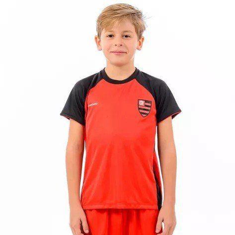 Camisa Flamengo Less Raglan Infantil - Braziline