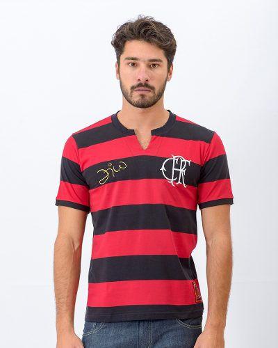 Camisa Flamengo Masculina Flatri Zico Dourado - Braziline - Titanes Esportes 0a33140a59f