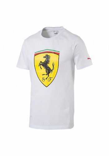 Camisa Puma Ferrari Big Shield Tee Withe Original 2107 + Nfe