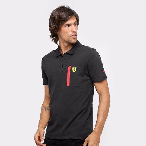 Camisa Polo Puma Ferrari Black - Original 2017/18 + Nfe