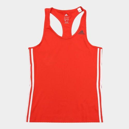 Camiseta Regata Adidas D2M 3S Feminina - Vermelha