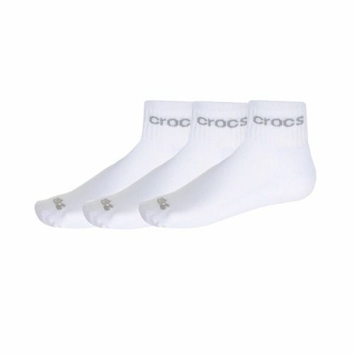 Kit Meia Cano Médio Crocs - com 3 Meias - Branca