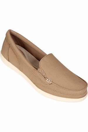 Sapato Crocs Walu Ii Canvas Loafer Feminino Original - Khaki