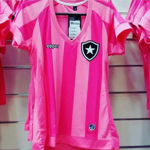 fae648ff62717 Camisa Botafogo Feminina Oficial Rosa ToPPer 2018 - Titanes Esportes