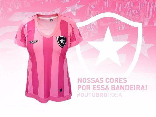 Camisa Botafogo Feminina Oficial Rosa ToPPer 2018 - Titanes Esportes 579a9265ff263