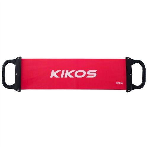 Elástico com Pegador Média Intensidade Kikos - Vermelho