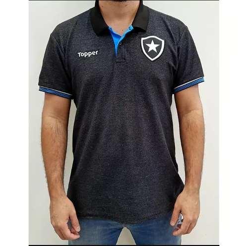 Camisa ToPPer Botafogo Polo Viagem Preto - Original