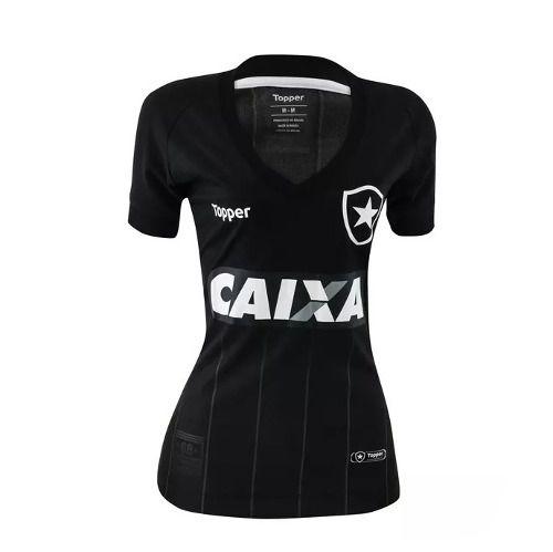 Camisa Botafogo Feminina Jogo Oficial 2018/ 19 Preta -