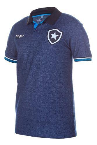 Camisa Topper Botafogo Polo Viagem Azul Marinho