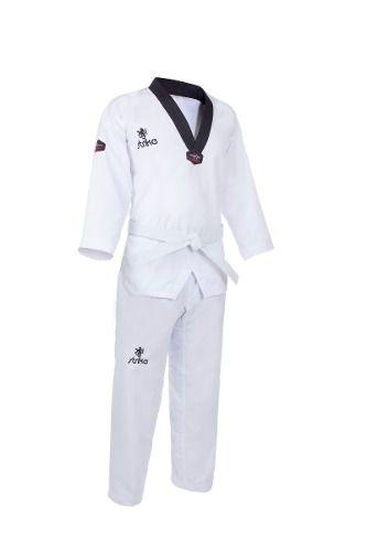 Kimono Strike Alpha Gola Preta Taekwondo