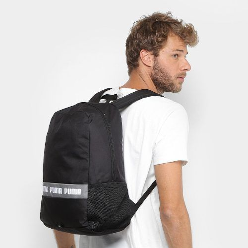 Mochila Puma Phase Black Logo - Original