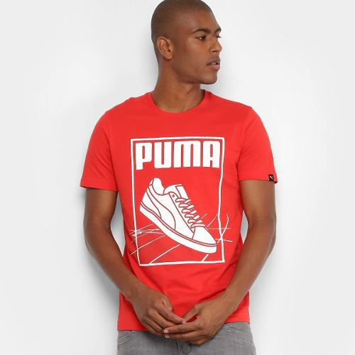 Camiseta Puma Track Tee Masculina - Vermelho