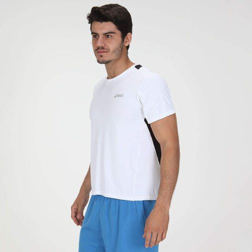 Camiseta Asics Mens Running Tech Ss Branco -