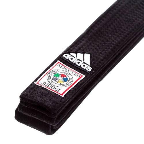 Faixa Preta Adidas Judo com Selo Vermelho - FIJ