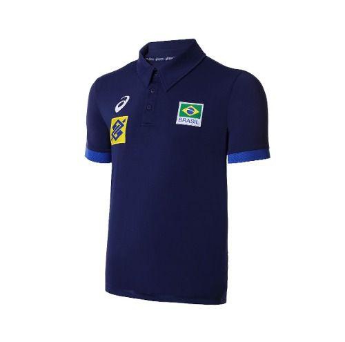 eb8bead425 Camisa Polo Seleção Brasileira Volei Cbv - Asics Oficial - Titanes Esportes