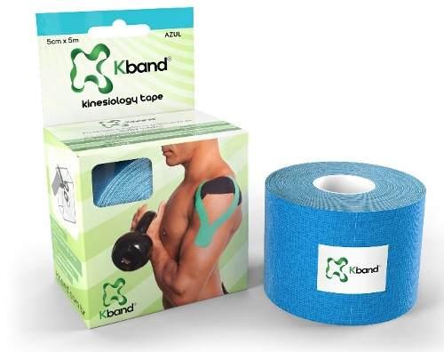 Bandagem Adesiva Kinesio Kband - Azul 5Cm X 5M