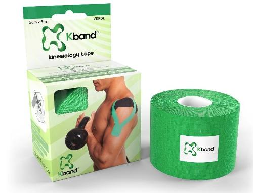 Bandagem Adesiva Kinesio Kband - Verde 5Cm X 5M