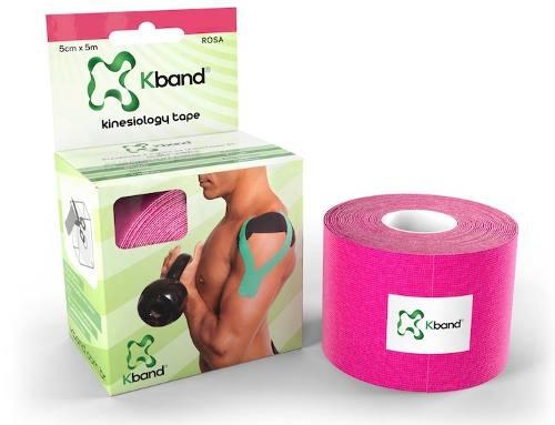 Bandagem Adesiva Kinesio Kband - Rosa 5Cm X 5M