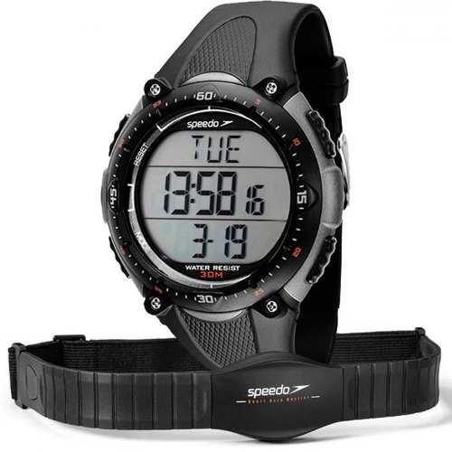 Relógio Speedo Monitor Cardíaco Preto 80565G0Epnp2