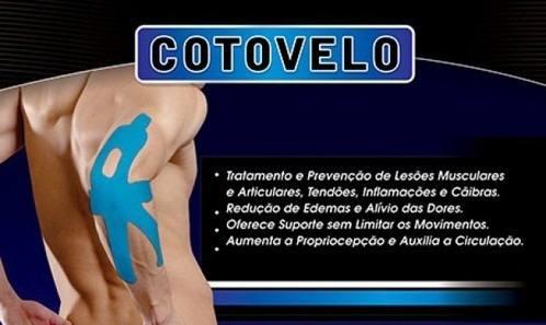 Bandagem Elástica Adesiva Aplicação Cotovelo - Pauher