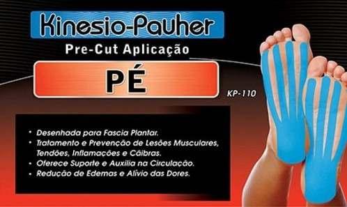 Bandagem Elástica Adesiva Pre-Cut Aplicação Pé - Pauher