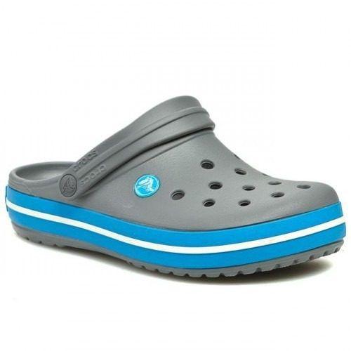 Sandália Crocs Crocband Adulto Charcoal/Ocean Original + Nfe