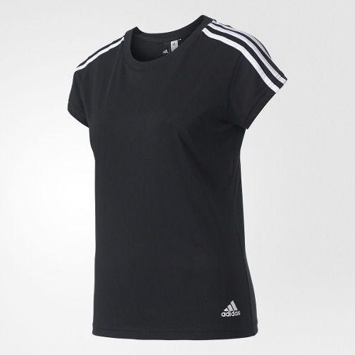 Camisa Essentials 3-Stripes Feminina Adidas Preto