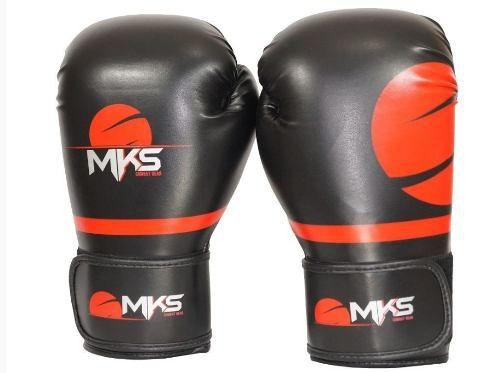 Luva Champions Pro Mks - Boxe / Muay Thai - Preto