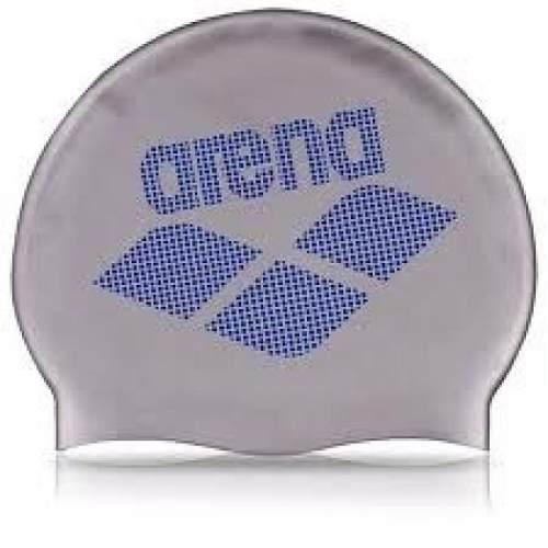 Touca Arena Silicone Silver Led Adulto - Prata