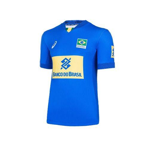 fa5db131a10 Camisa Seleção Brasileira Volei Asics Azul - Original - Titanes Esportes