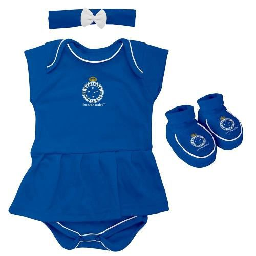 Body Infantil Feminino Torcida Baby - Cruzeiro