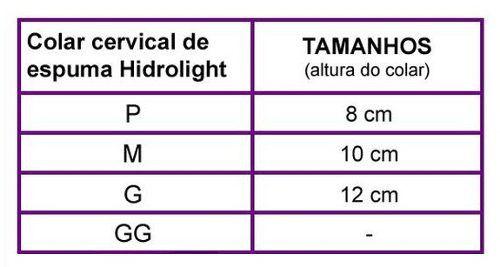 Colar Cervical de Espuma Hidrolight - P