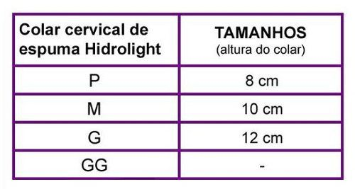 Colar Cervical de Espuma Hidrolight - M