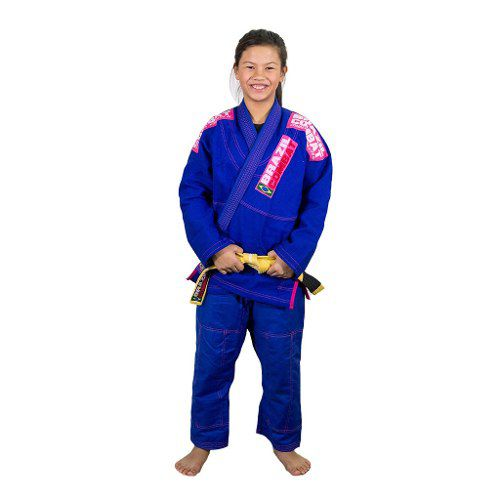 Kimono Infantil Xtra-Lite Azul/Rosa - Brazil combate