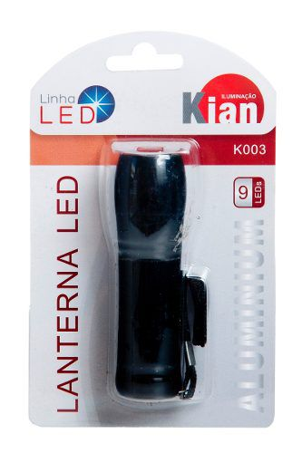Lanterna Led 9 Leds Alumínio 3 Pilhas Aaa 8367 - Kian