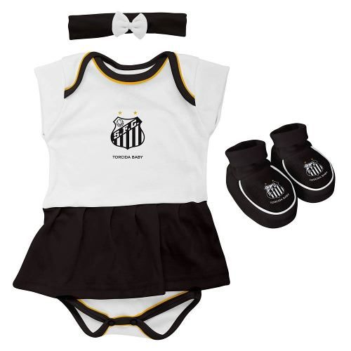 Body Infantil Feminino Torcida Baby - Santos